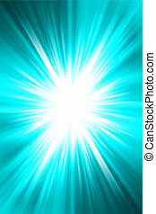 Abstract background - Bright blast of light on blue tone...