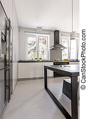 Modern cabinets in kitchen - Modern built-in cabinets and...
