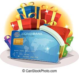 Santa Credit Card For Christmas Shopping