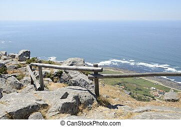 View of the Atlantic Ocean from the mountain of Santa Tecla...