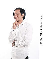 Portrait of a Happy Asian Businessman - Photo image portrait...