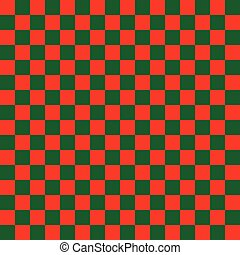 Seamless Christmas check wrapping paper pattern.