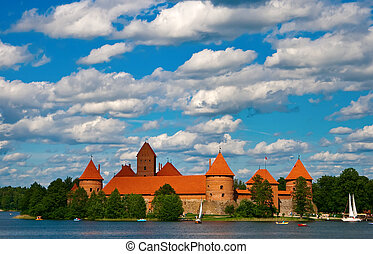 Trakai Castle In Lithuania - Trakai castle near Vilnius, in...