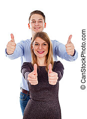 Love & fun - Picture of a cute young couple having fun in...