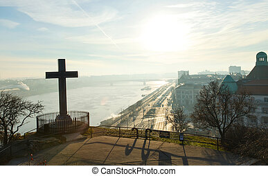 Morning view in Budapest, Gellert Hill - Picture of Budapest...