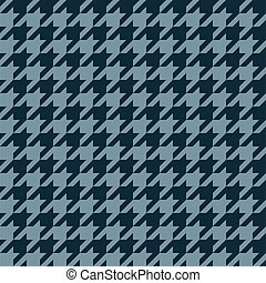 Seamless houndstooth pattern in blue grey.