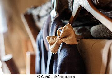 Men's wedding suit with bow tie - blue men's wedding suit...