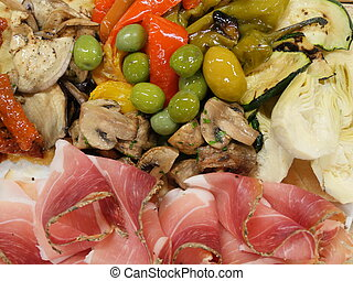 Antipasti - Still life, food and drink, holidays concept....