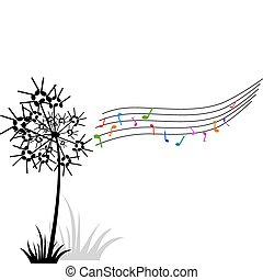 dandelion of music notes