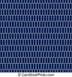 Seamless hexagonal pattern background. Navy blue pattern.