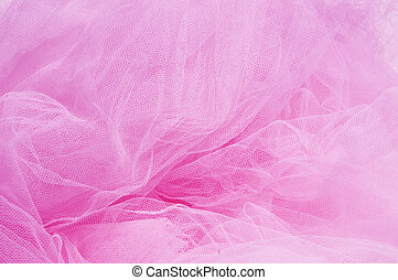 pink tulle - close up of a pink tulle fabric