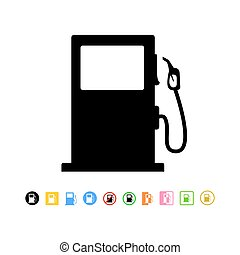 Gas station icon, vector illustration