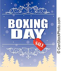 Vintage vector Boxing Day design