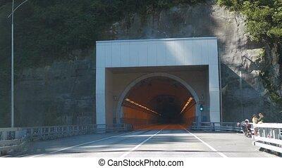 tunnel on the road Adler - Alpika-service resort, Sochi,...