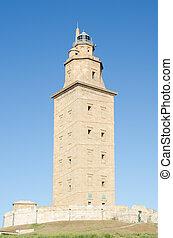 Tower of Hercules, Galicia, Spain. - Tower of Hercules, La...