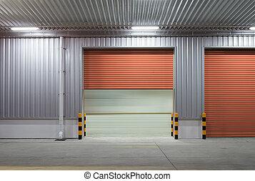 Shutter door night - Shutter door or roller door and...