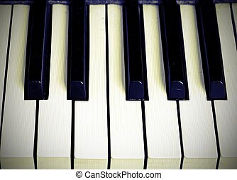 piano keyboard with black and white keys