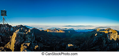 Mt. Wilhelm in morning - Photo from top of Mount Wilhelm in...