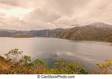 Laguna Cuicocha, Lake Of Guinea Pigs, Ecuador - Laguna...