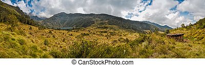Wilderness near Mount Wilhelm - Panoramic photo of...