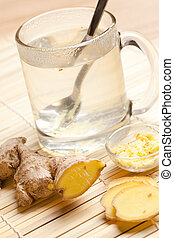 ginger tea - photo shot of ginger tea