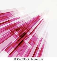 Perspective pink abstract straight lines background