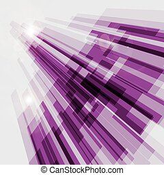 Perspective violet abstract straight lines background