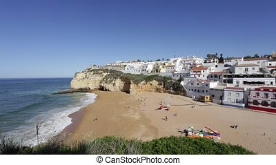 Beach Carvoeiro summer.