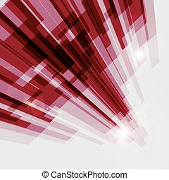 Perspective red abstract straight lines background