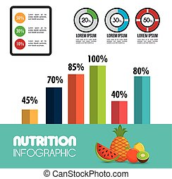 nutrition food infographic icons vector illustration eps 10