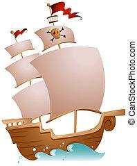 海賊, 船