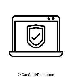 computer security illustration design