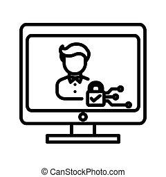 online privacy illustration design