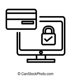 secure payment illustration design