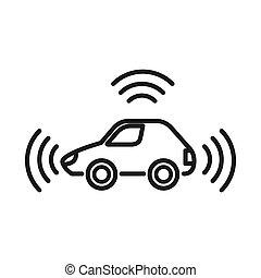autonomous car illustration design