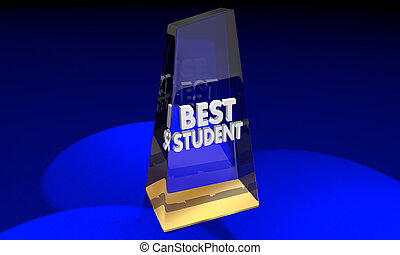 Best School Award Trophy Top Education Prize 3d Illustration