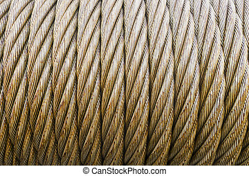 Oil and gas - wire rope texture - heavy duty steel wire...