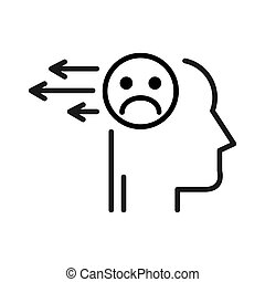 release negative thoughts illustration design