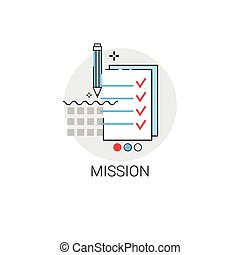 Mission Marketing Vision Business Economy Icon Vector...