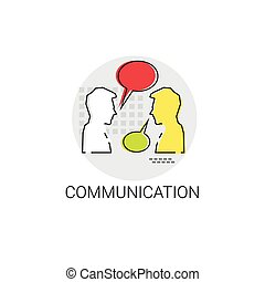 Social Network Communication People Chat Icon