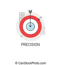Precision Target Arrow Get Aim Business Concept Icon Vector...