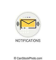 Notification Envelope Email Inbox Message Send Mail Vector...