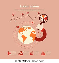 Graph Set Environment Diagram Infographic Icon Business Chart