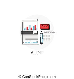 Audit Data Analysis Icon Financial Graph
