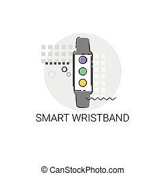 Smart Wristband Trecker Technology Electronic Device Vector...