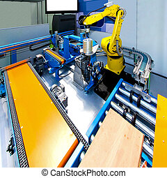 Robotic production line - Production line with one automatic...