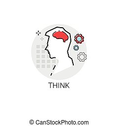 Think New Idea Inspiration Creative Process Business Icon...