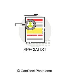Specialist Candidate Vacancy Search Icon Business Concept...