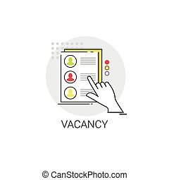 Recruitment Candidate Job Position Vacancy Icon Business...