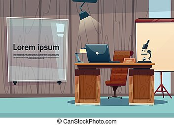 Medical Doctor Clinic Office Empty Cabinet Workplace Flat...